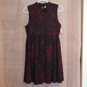 Maroon and Black Semi-formal Dress